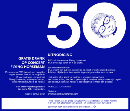 Uitnodiging Flying Horseman