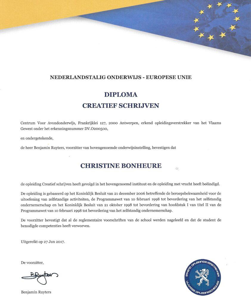 Diploma creatief schrijven rijker
