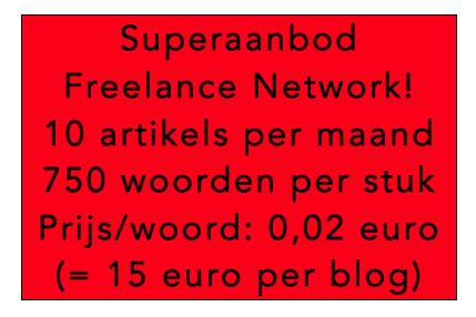 Freelance Network, marktplaats voor onmenselijk lage prijzen