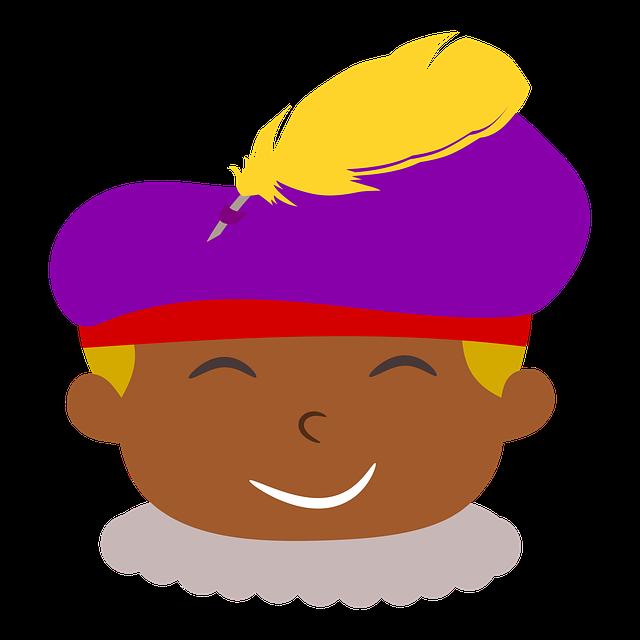 De Piet van Sinterklaas is zwart