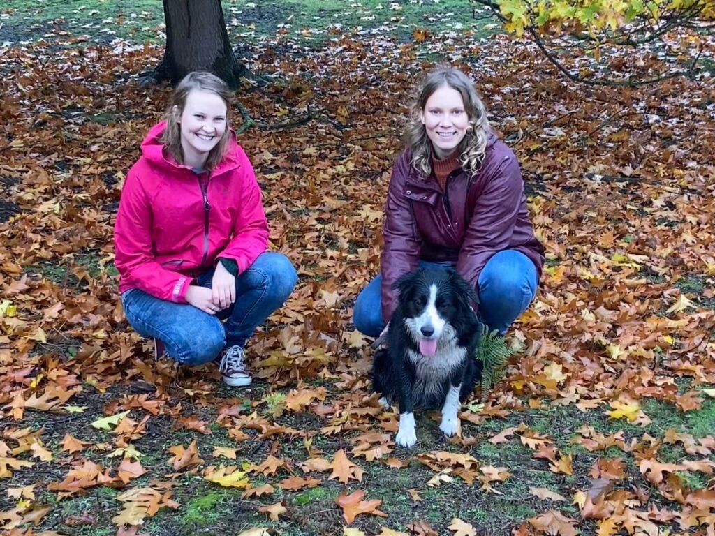 Hannah, Frodo en Maya op herstwandeling in het Kloosterbos